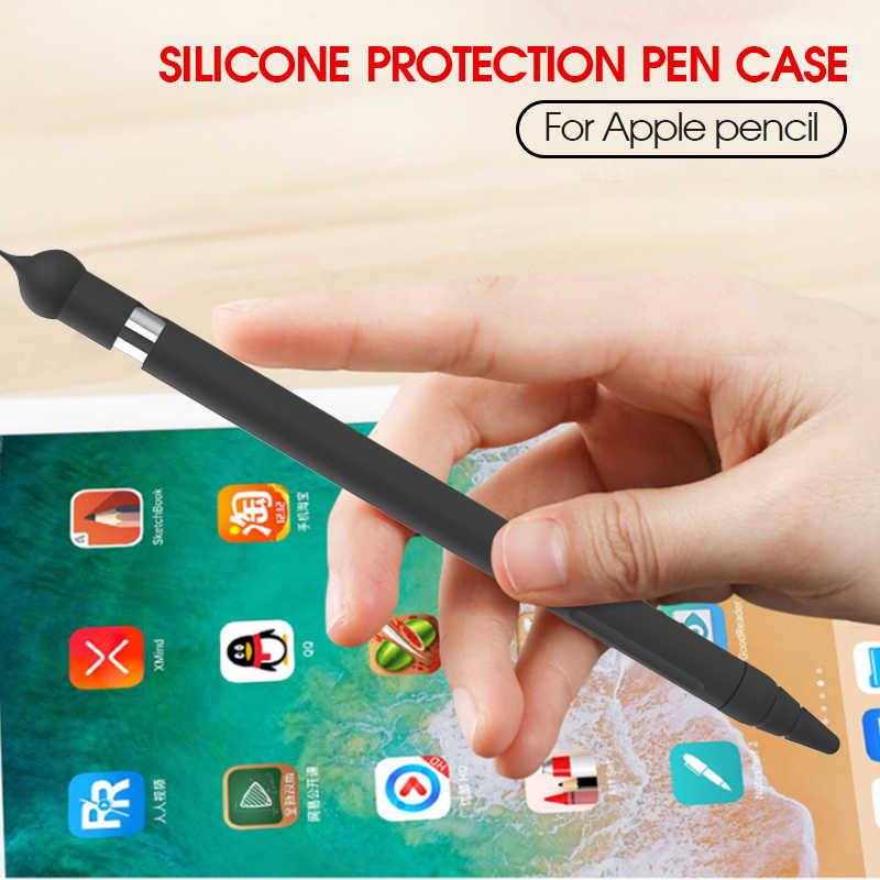 การ์ตูนหมี Apple ดินสอดินสอ iPad ซิลิโคนป้องกันหมวกผู้ถือ Nib ปกคลุมผิวป้องกันสำหรับ Apple ดินสอ 1st