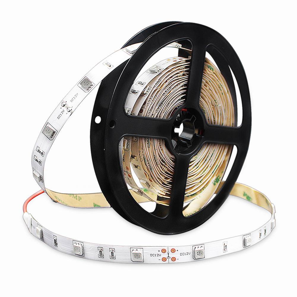 SMD5050 High Brightness InfraRed 850nm 940nm Flexible LED Strips 60 LEDs per meter LED Tape with White Background