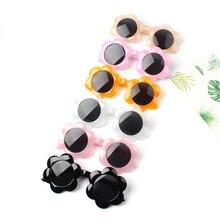 New Sun Flower Round Cute Kids Sunglasses Uv400 For Boy Girls Toddler Lovely Baby Sun Glasses Children Oculos De Sol N554