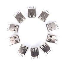 USB гнездо гнездо тип A 4Pin 180 степень припой разъем