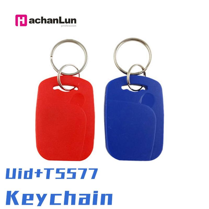 5/10pc UID + 5577 RFID Tag Smart NFC Dual Chip IC + ID Verbund Keychain 125KHZ EM4305 13,56 MHZ Wiederholbare Löschbaren Zugang Karte