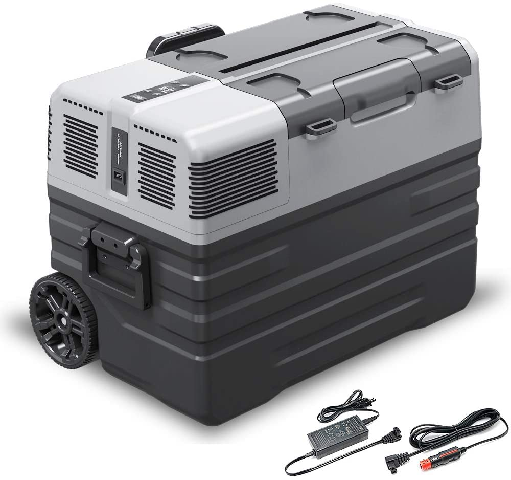 62L портативный Морозильный холодильник 12 В 220 В автомобильный холодильник с компрессором ЖК дисплей для грузовика RV кемпинга путешествия|Автомобильные холодильники|   | АлиЭкспресс