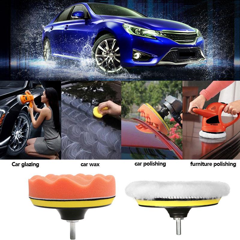 Polishing Foam Car Buffing Sponge 3inch Waxing Set Portable 8pcs/Set