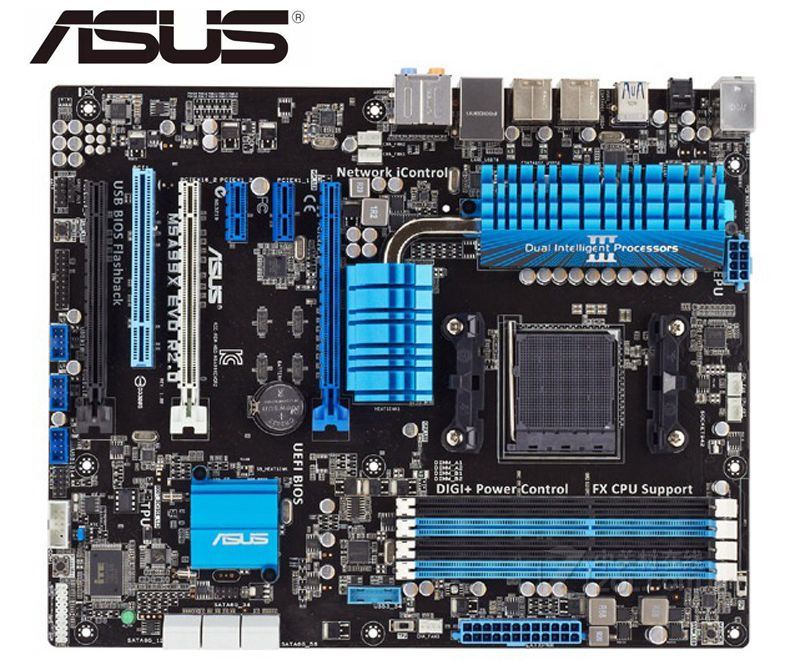 Asus m5a99x evo r2.0 original usado mainboard ddr3 soquete am3 + placas 32 gb usb2.0 usb3.0 990x desktop placa-mãe pc