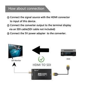 Image 5 - Wiistar HDMI כדי SDI אודיו וידאו ממיר Box BNC SD HD 3G SDI עבור מצלמה צג