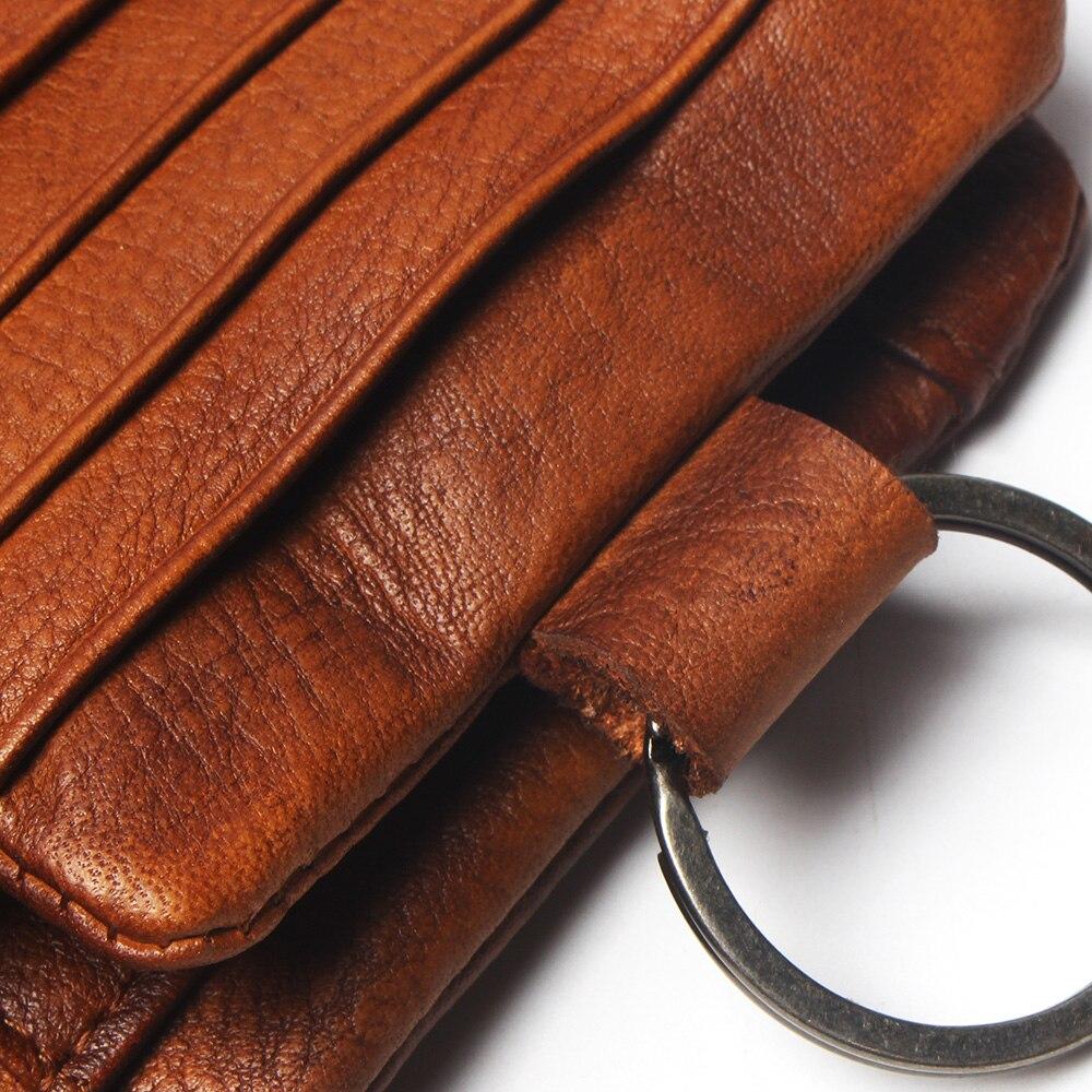 Купить с кэшбэком TAUREN New Short Wallet Women Coin Wallets Men Coin Purse Genuine Leather Lady Zipper Design With Coin Purse Pockets Short Walet