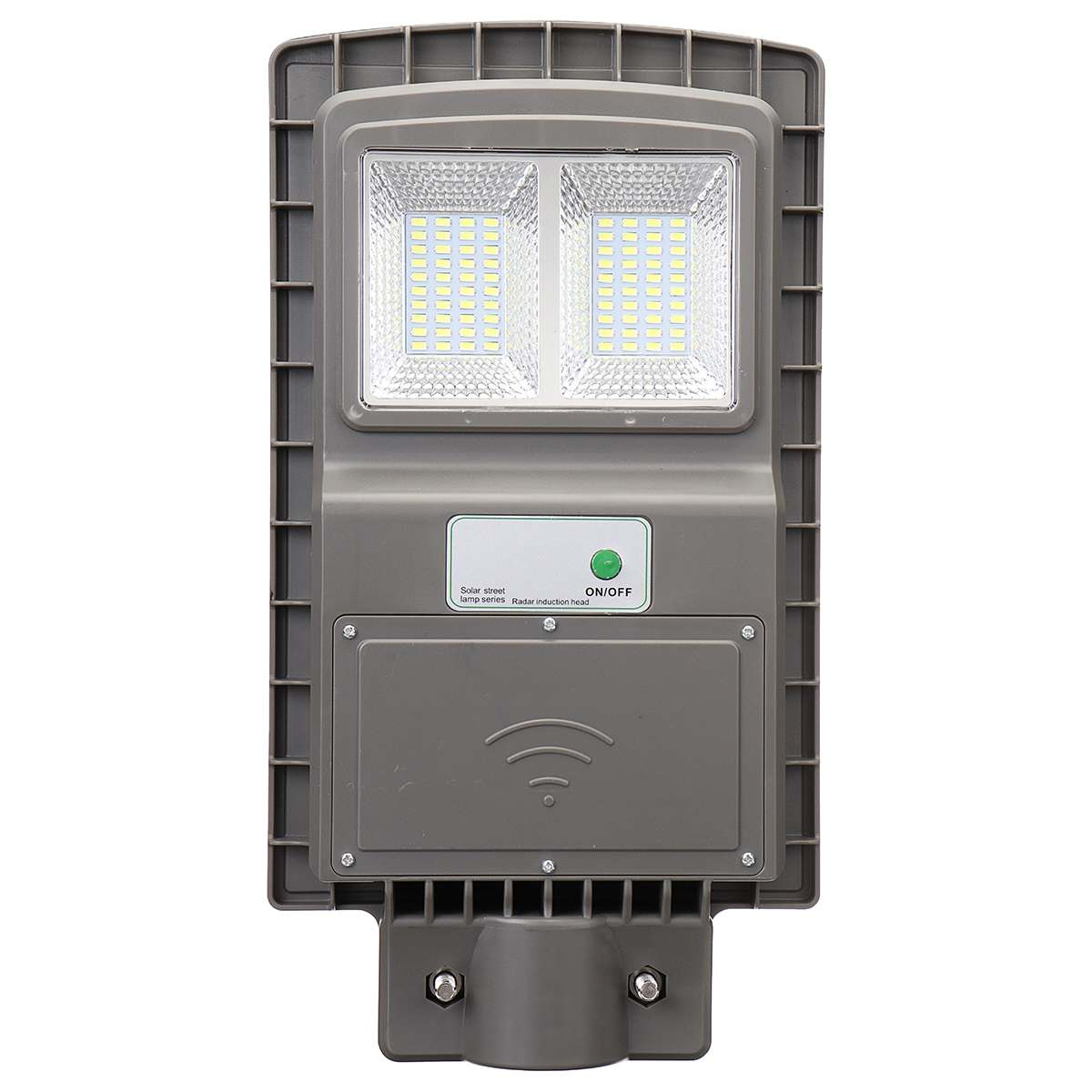 30W Solar Street Light Powered LED Outdoor Lighting PIR Motion Sensor Garden Wall Street Lamp Gray Shell Waterproof for Plaza