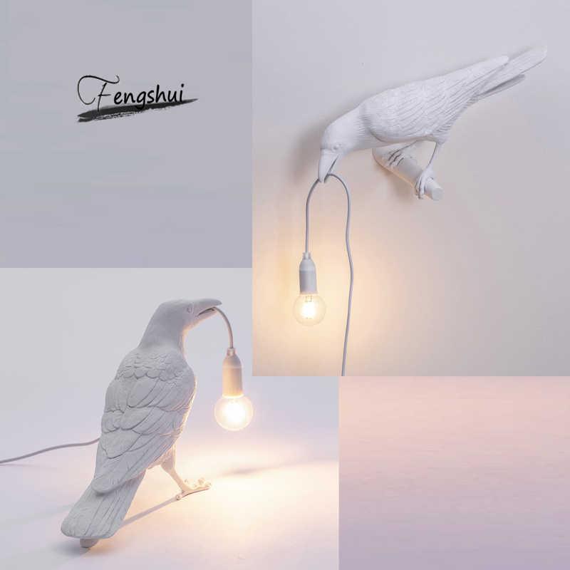 Lámparas de mesa LED de diseño moderno para pájaros regalos de dibujos animados para sala de estar Estudio de habitación para niños decoración para el hogar Decoración de mesa de arte