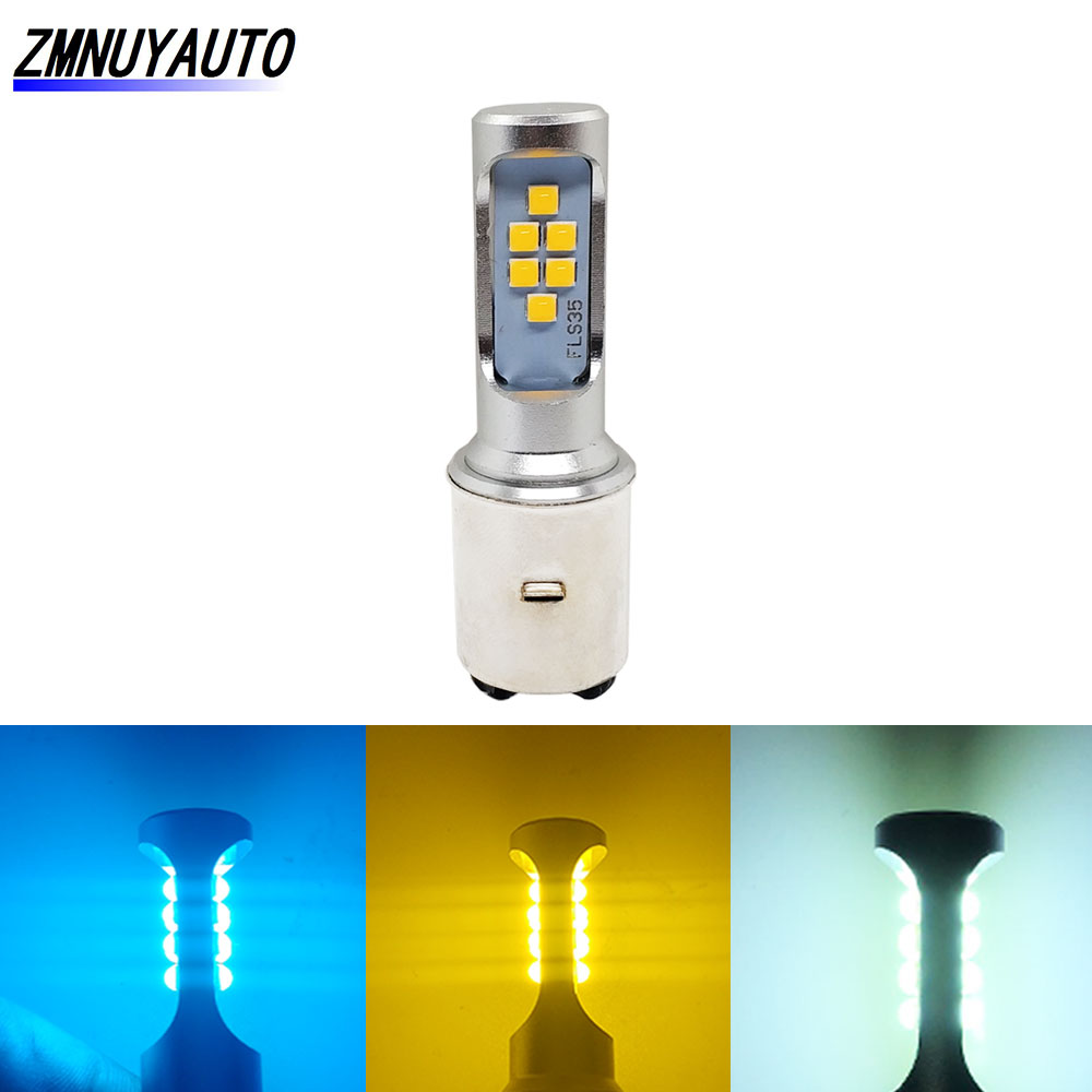 BA20D LED H6 Bulb Motorcycle Fog Lights DRL Lamp Motor Scooter HeadLight Moto Headlamp For Suzuki White Golden Yellow Ice Blue