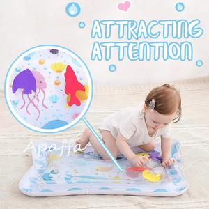 Image 2 - Baby Kids Water Play Mat Toys Inflatable Thicken PVC Infant Tummy Time Playmat Toddler Activity Play Center Water Mat for Babies