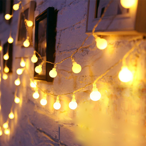 USB/Battery Power LED Ball Garland Lights Fairy String Waterproof Outdoor Lamp Christmas Holiday Wedding Party Lights Decoration
