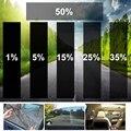 300x50 см VLT черная Автомобильная домашняя оконная стеклянная Тонировочная пленка, рулон бокового окна, солнечная УФ-защита, наклейка, скребок ...
