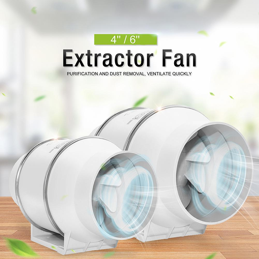 Kitchen 4inch/6inch Silent Oblique Flow In-Line Extractor Ventilation Duct Fan