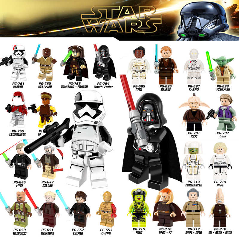 2019 Star Wars legoing figures starwars blocks The Rise of Skywalker Rey Jedi Knight Darth Vader  Anakin Compatible LegoINGlys