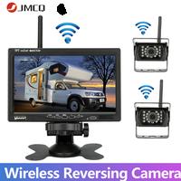 JMCQ-Monitor de 7 pulgadas para coche Monitor TFT LCD en Color HD de 12-24V para autobús, coche, camión, CCTV, vista trasera de marcha atrás, cámara de respaldo
