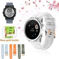 Rose gold schnalle Silikon Armband für Garmin Fenix 6s 6s Pro 5S 5S Plus Uhr 20mm Quick Release Easyfit Ersetzen Handgelenk Band