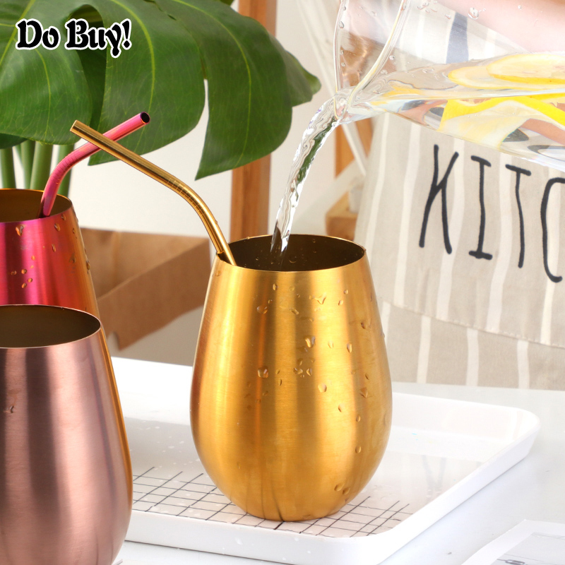 500ml Beer Cup Stainless Steel Beer Mugs Milk Drinking Mug Coffee Tumbler Cocktail Water Cup Outdoor Drinkware