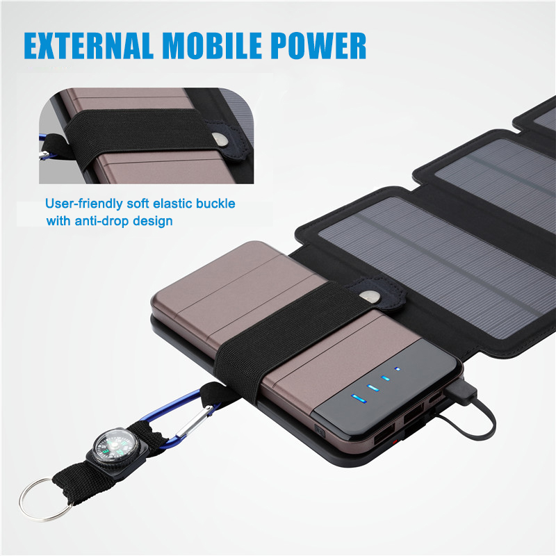 Newest 7.5W Portable Folding Solar Charger for Mobile Phone Outdoor Solar Charging Board