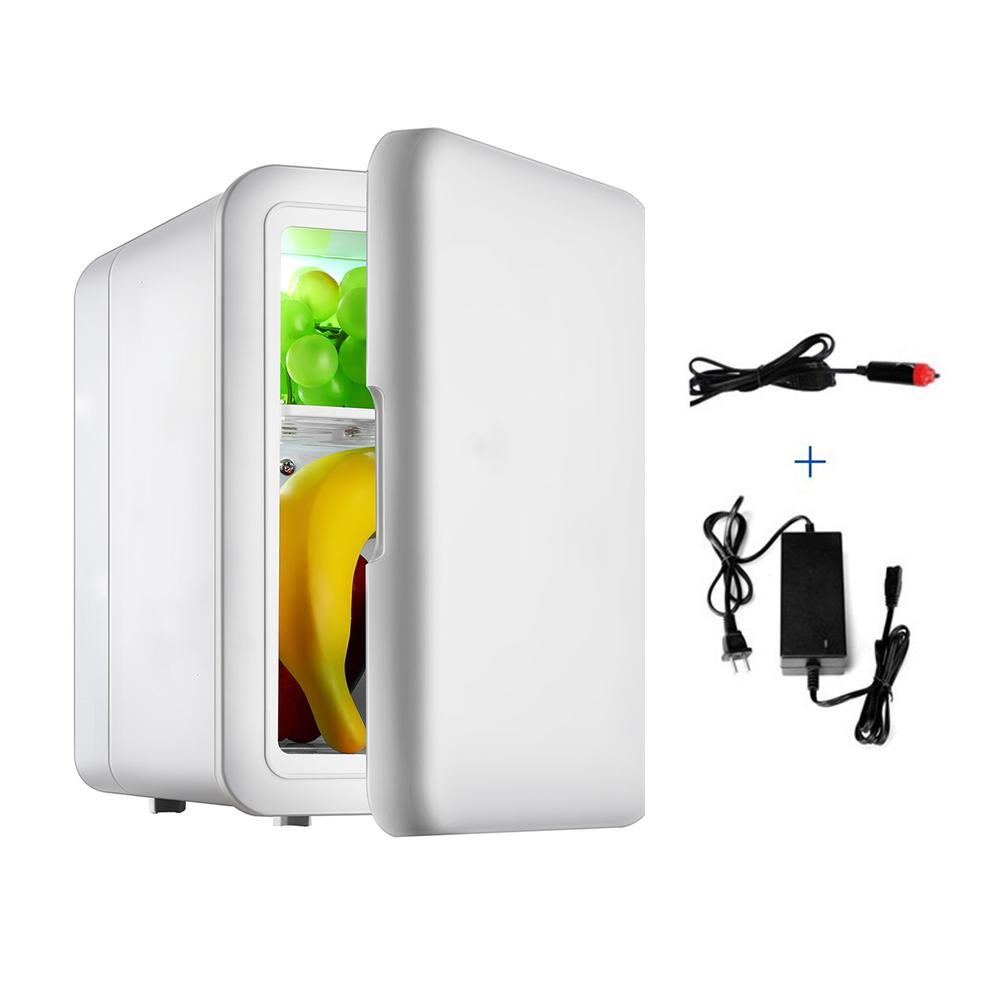 Portable 4 L Mini Home & Car Dual-Use Ultra Quiet Refrigerators Low Noise Auto Refrigerators Freezer Cooling Heating Box Fridge