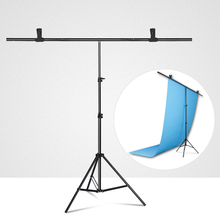 Photography T shaped background  backdrop stand support system for photo studio PVC backdrops Multiple sizes + carry bag