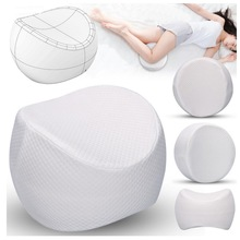 Orthopedic Knee Pillow for Sciatica Relief, Back Pain, Leg Pain, Pregnancy, Hip and Joint Pain - Memory Foam Wedge Contour