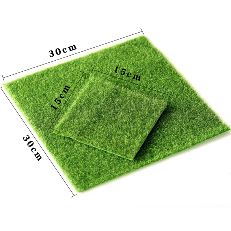 Fake Moss Mini Fairy Garden Ornament Artificial Lawn Grass Terrariums Bonsai Miniatures DIY