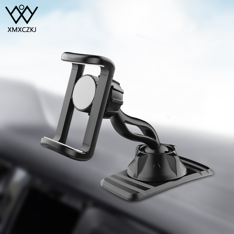 Phone Holder For Car Dashboard | XMXCZKJ Dashboard Mount Phone Holder In Car Flexible Clip Double 360 Degree Stand Bracket Support For 4 To 6.5 Inch Mobile Phone