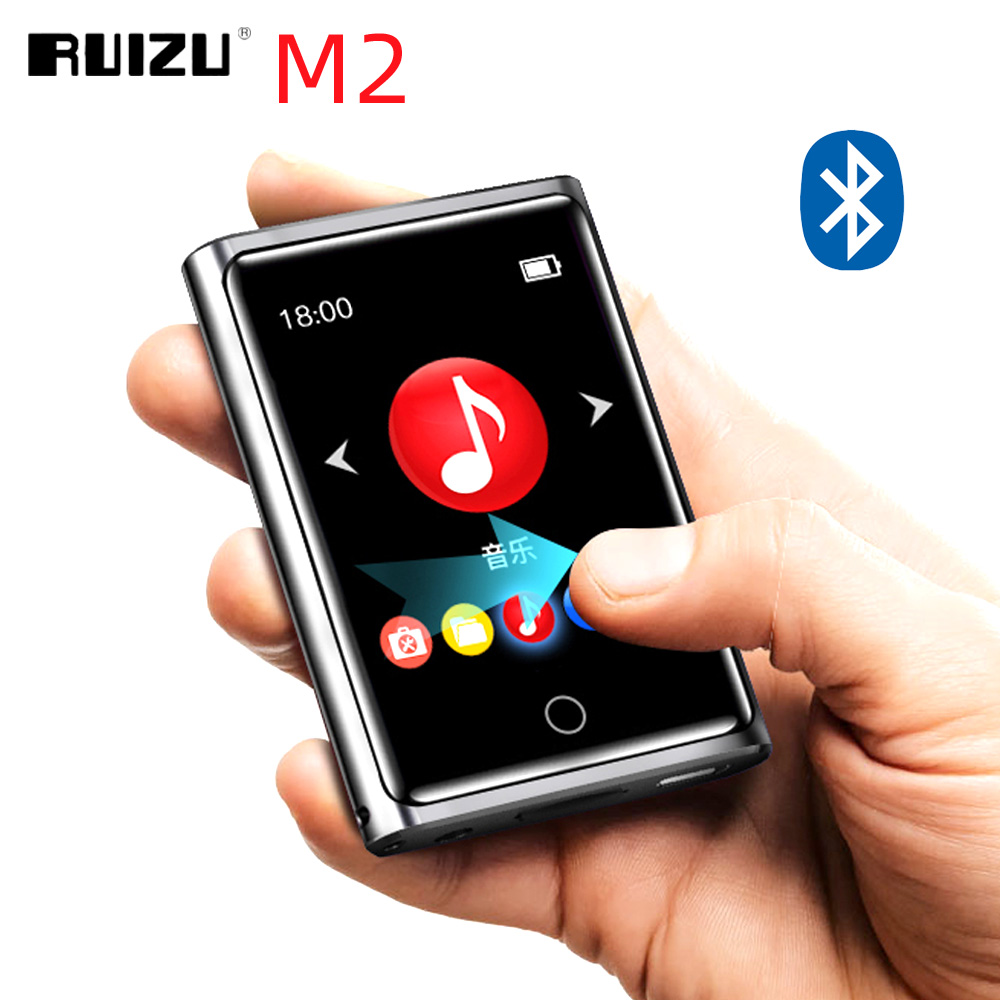 RUIZU M2 Full Touch Screen MP3 Player Bluetooth 8GB 16GB Portable Audio Music Player With FM Radio Recording E-book Video Player