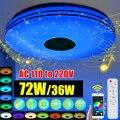 Moderne RGB LED Decke Lichter Hause beleuchtung 36W 72W APP bluetooth Musik Licht Schlafzimmer Lampen Smart Decke Lampe + Fernbedienung