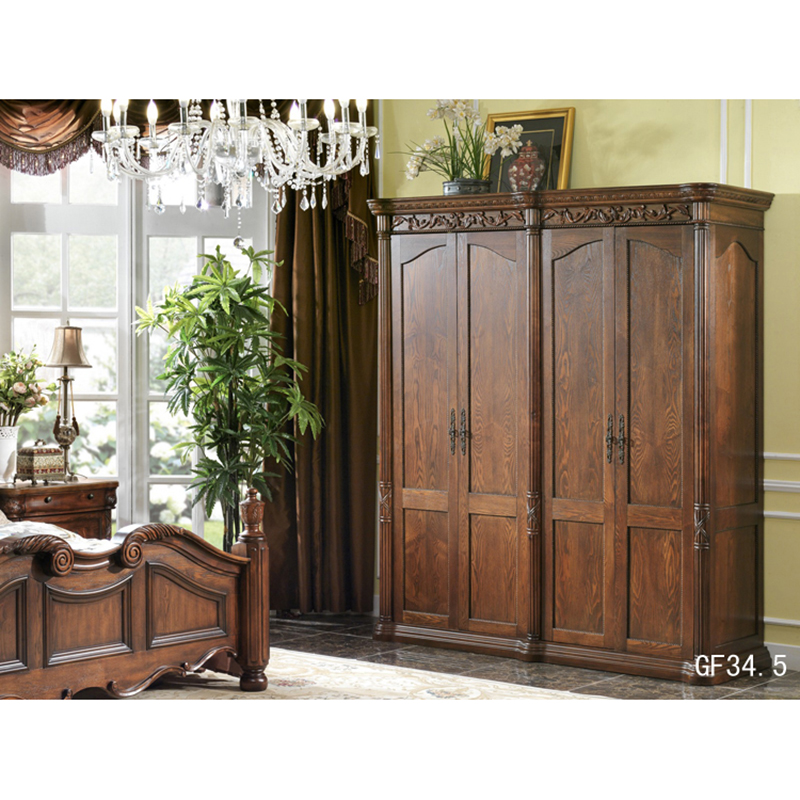 Home Furniture European Cabinet font b Closet b font Bedroom 4 Door Wardrobe Мебель для дома