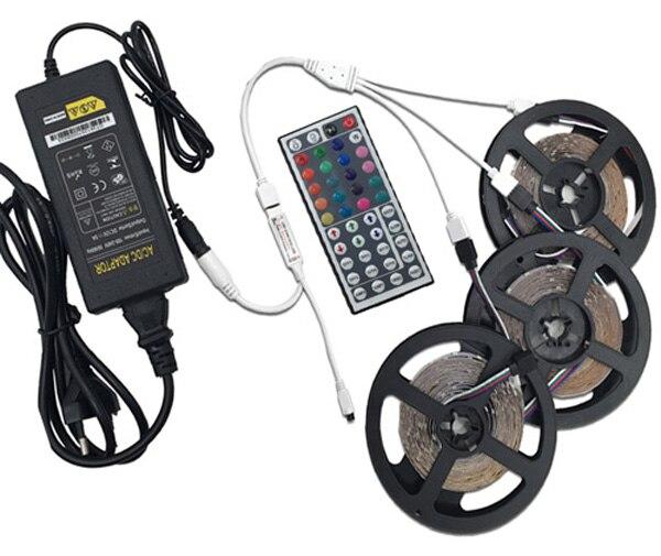 Hd5439f3aebc74746a4cf85e9b694eba1R LED Strip Light RGB 5050 SMD 2835 Flexible Ribbon fita led light strip RGB 5M 10M 15M Tape Diode DC12V 60LEDs 1M+Control+Adapter
