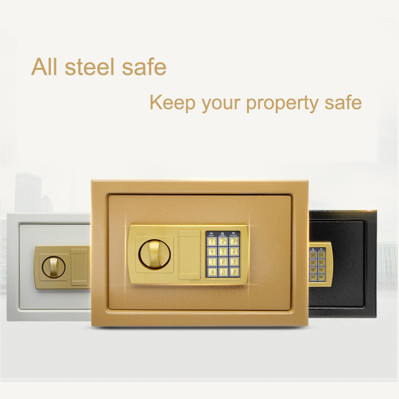 Safurance Luxury Digital Depository Drop Cash Safe Box 25*35*25cm Jewelry Home Hotel Lock Keypad Black Safety Security Box