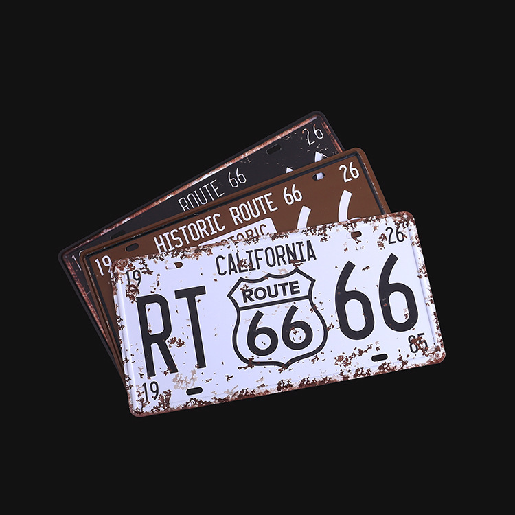 Aluminum Advertising Car Signs High-quality Foreign License Plates Personalized Retro Decorative Plate Customization