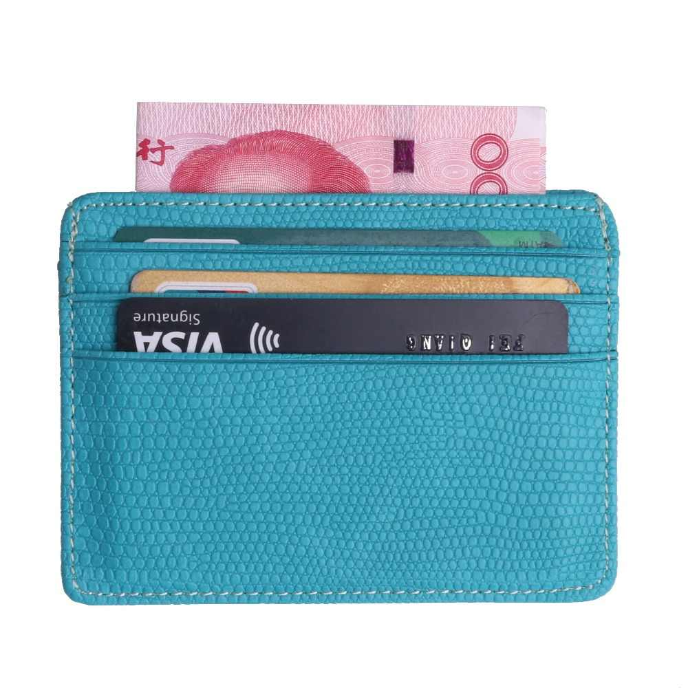 Trassory Kleine Mini Reizen Lizard Patroon Lederen Bank Zaken Id-kaart Houder Wallet Case Voor Mannen Vrouwen Met Id Venster