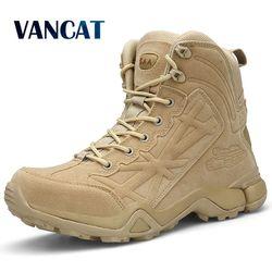 2019 outono inverno botas militares moda ankle boots masculino tático deserto botas ao ar livre homens botas de trabalho sapatos masculinos Size39-46