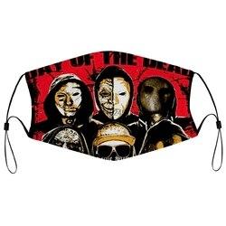 Masque anti-poussière avec filtre Hollywood morts-vivants DOTD visages cygne chansons V bande de tragédie américaine col rond Promotion bouche visage couverture