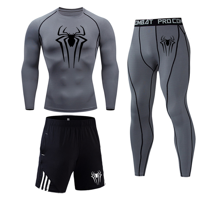 Men Thermal Underwear Quick Dry Warm Long Johns Set Male Warm Fitness Thermo Underwear Set Spiderman Marvel Men's Underwear