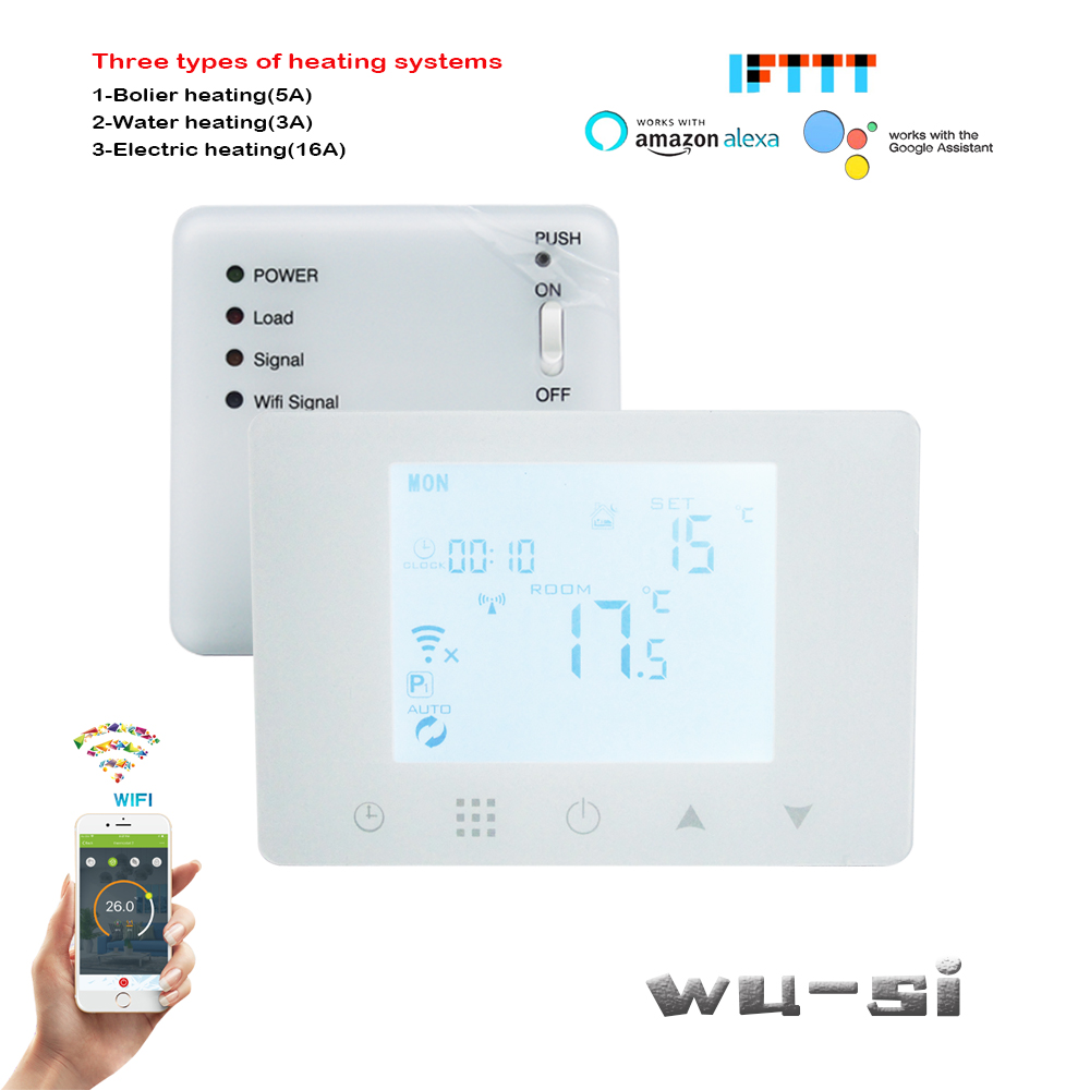 APP WIFI&RF Wireless Thermostat For Floor Heating System,3A/5A/16A Optional