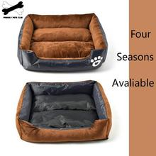 Pet Bed  House For Dog Waterproof Cotton Nest Bite-resistant Square Kennel