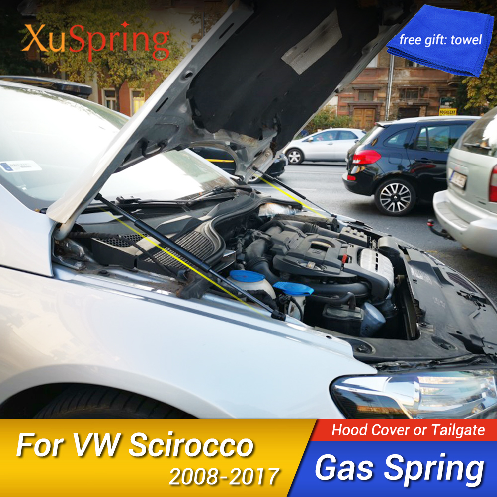 For VW SCIROCCO 2008 2010 2012 2013 2015 2016 2017 Car Bonnet Hood Gas Spring Shock Lift Strut Bar Support Hydraulic Rod Styling