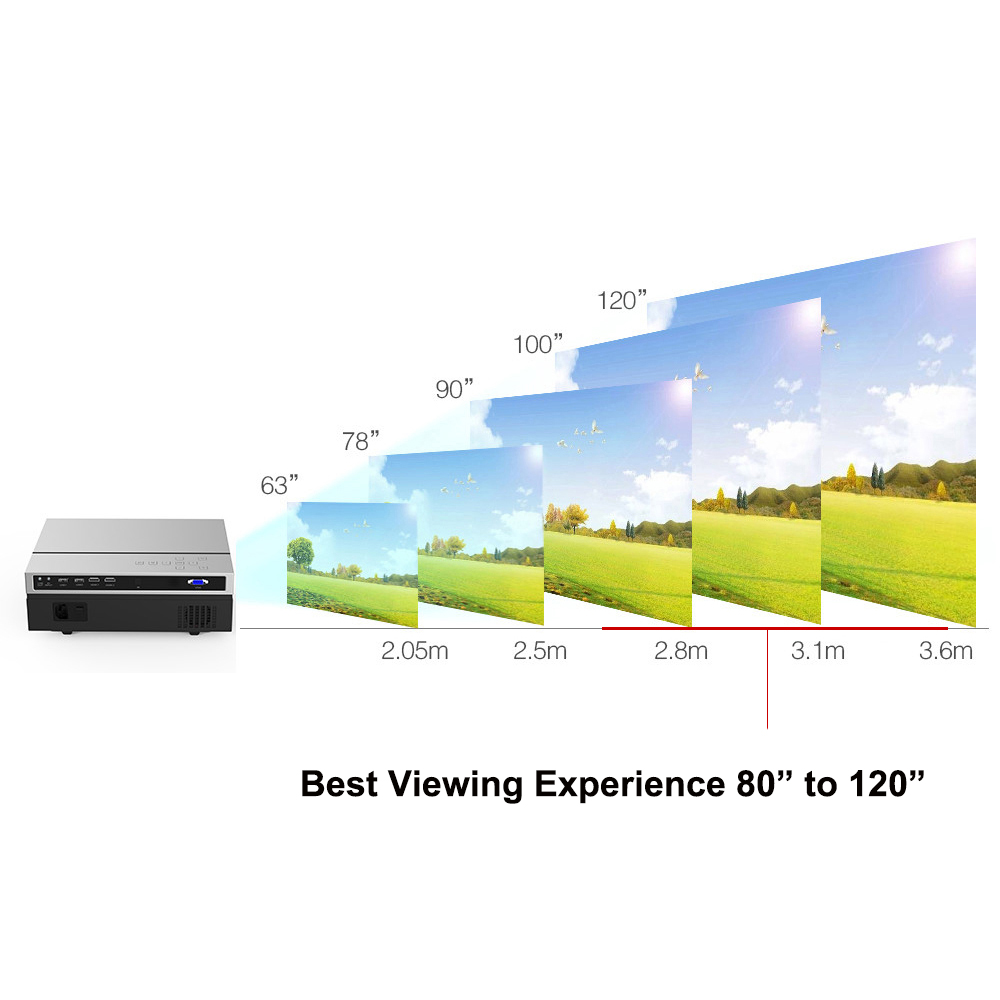 Image 5 - Everycom T26K Full HD Projector 1920x1080P Projector Portable 5500 Lumens HDMI Beamer Video Proyector LED Home Theater Movie-in LCD Projectors from Consumer Electronics