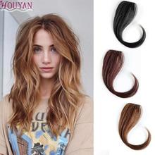 HOUYAN 25-30 см заколка для длинных волос на передних волосах челка волосы для женщин натуральные челки волосы кусок синтетических женщин длинные челки наращивание