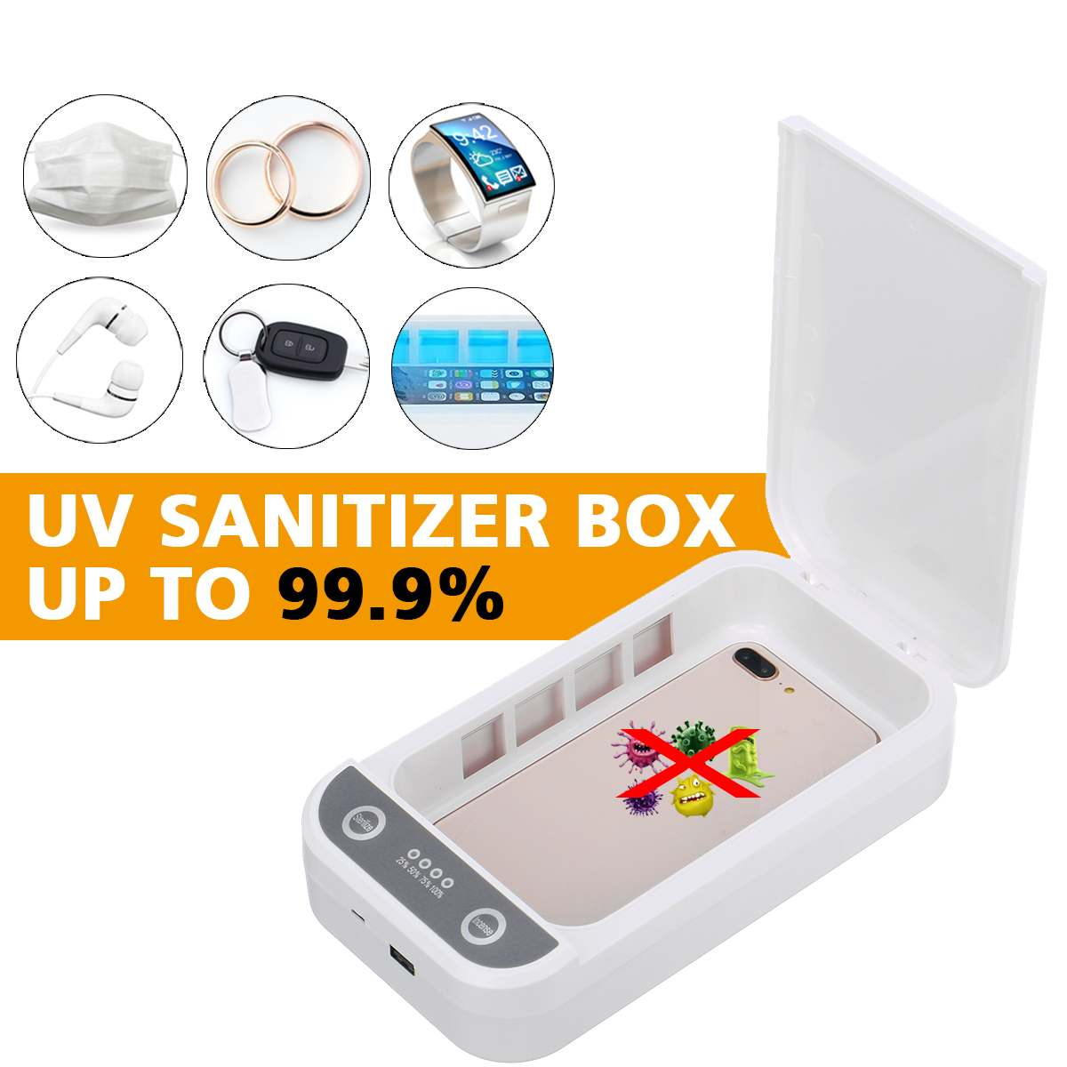 9W Rechargeable UV Disinfector Sterilizer Multi-function Sterilizer Sterilisator Cosmetic Cleaner for Mobile Phone Toothbrush image