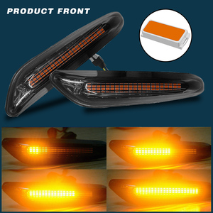 Image 2 - 2pcs Smoke LED Side Marker Light Flowing Water Indicator Turn Signal Lights For BMW E90 E91 E92 E93 E60 E87 E82 E61 Error Free
