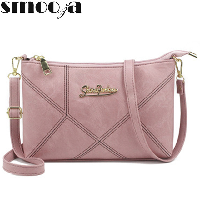 SMOOZA Retro Women Handbags Female Shoulder Crossbody Bags Ladies Artificial Leather Small Stripe Messenger Envelope Bags 1