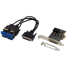 Pcie 4 porta 2s rs485/rs422 placa de expansão para db9 serial rs232 pci express adaptador cartão 17v354 chipset