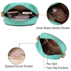 Image 4 - Vaschy のためのヴィンテージキャンバス女性のための軽量クロスボディバッグメッセンジャーバッグと内側ポケット