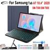 Backlit Keyboard Case for Samsung Galaxy Tab A7 10.4 inch 2020 Tablet Funda SM-T505 T500 Slim Wireless Keyboard Leather Cover