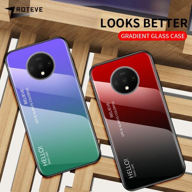 ZROTEVE Cover For One Plus 5 5T 6 6T 7 7T Pro Case Glass Cover OnePlus 5 5T 6 6T 7 7T Pro Case Glass Back Cover One Plus 5 T 6 T