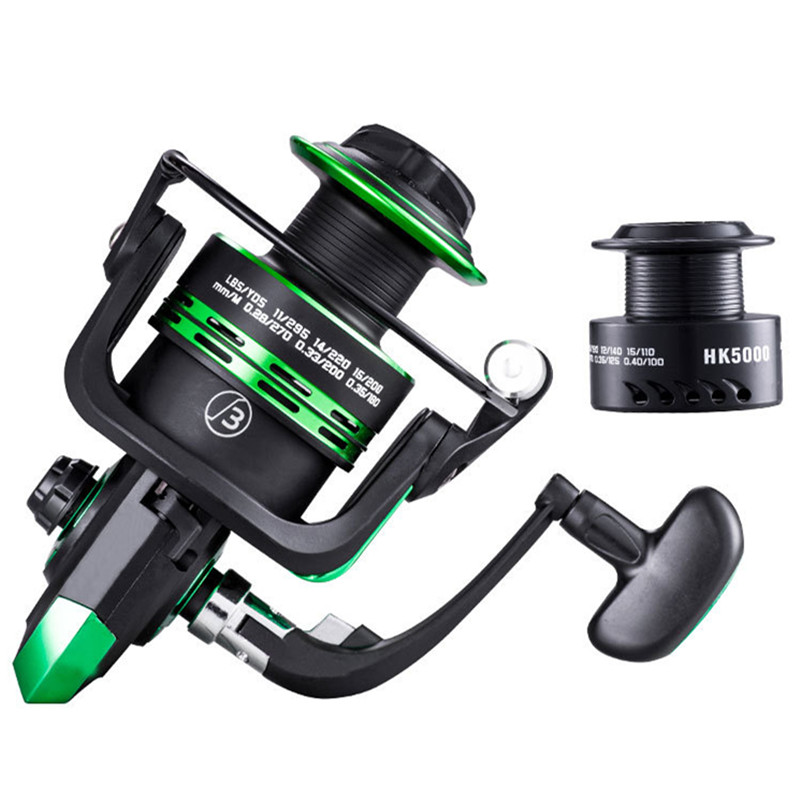 High Quality Double Spool Fishing Reel 5.2:1 Gear Ratio High Speed Spinning Reel Carp Fishing Reels For Saltwater